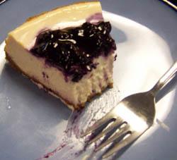 Cafe Indigo blueberry cheesecake